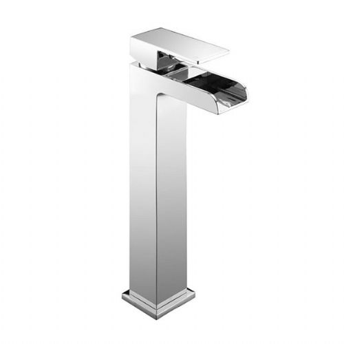 Abacus Font Tall Mono Basin Mixer Tap - Chrome